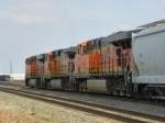 BNSF ES44DC 7229, BNSF C44-9W 4435 and BNSF ES44DC 7785